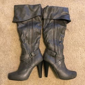 Gray Guess Heeled boots